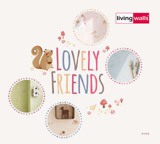 Tapetenkollektion «Lovely Friends» von «Livingwalls»: Tapeten-Artikel 48; Raumbilder 4