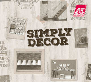Wallpaper Collection «Simply Decor» by «A.S. Création»: Wallpaper Item 81; Interior Views 38