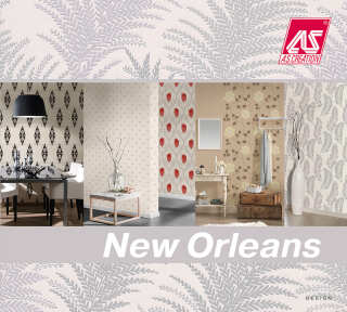 Wallpaper Collection «New Orleans» by «A.S. Création»: Wallpaper Item 44; Interior Views 6