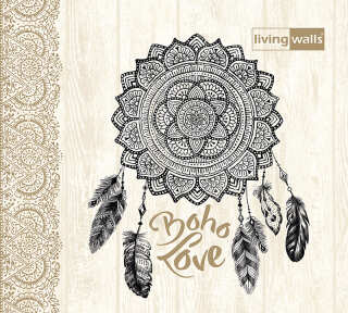 Wallpaper Collection «Boho Love» by «Livingwalls»: Wallpaper Item 39; Interior Views 6