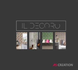 Tapetenkollektion «Il Decoro» von «A.S. Création»: Tapeten-Artikel 142; Raumbilder 141