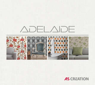 Обои «Adelaide» марки «A.S. Création»: обоев 72; интерьеров 27