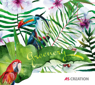 Wallpaper Collection «Greenery» by «A.S. Création»: Wallpaper Item 77; Interior Views 73