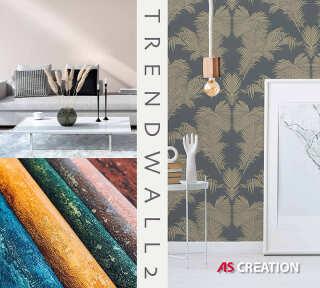Обои «Trendwall 2» марки «A.S. Création»: обоев 68; интерьеров 13