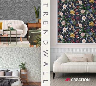 Обои «Trendwall» марки «A.S. Création»: обоев 98; интерьеров 14