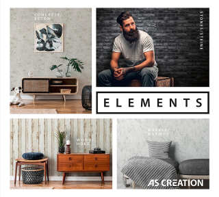 Wallpaper Collection «Elements» by «A.S. Création»: Wallpaper Item 145; Interior Views 129