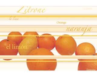 Livingwalls impression numérique «Ornage/Lemon» 033180