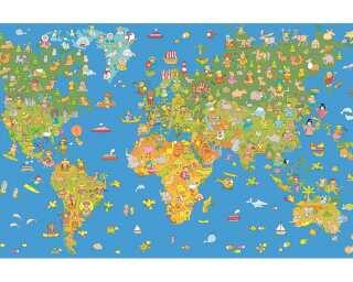 Livingwalls impression numérique «World Map» 035170
