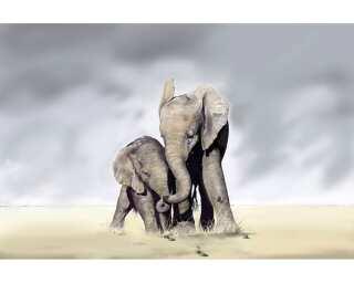 impression numérique «Elephant Family» 036440