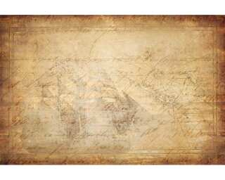 Livingwalls Photo wallpaper «Vintage map» 036760