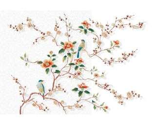 Livingwalls Photo wallpaper «Birds in tree» 036860