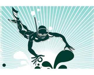 Livingwalls Fototapete «Illustration diving» 036971