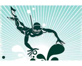Livingwalls Фотообои «Illustration diving» 036970