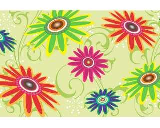 Livingwalls Fototapete «Stylized flowers meadow» 036991