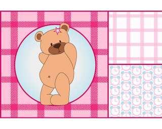Livingwalls impression numérique «Pink border bear» 037010