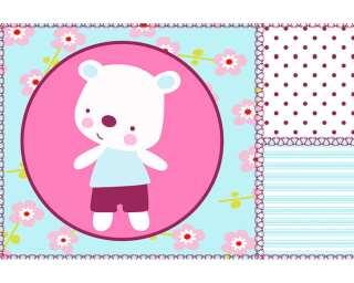 Fototapete «Border baby bear» 037020
