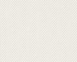 A.S. Création Wallpaper «Stripes, Paintable, White» 090341