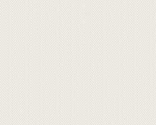 A.S. Création Tapete «Streifen, Weiß, Überstreichbar» 090341