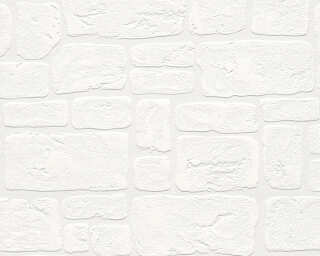 A.S. Création Wallpaper «Stone, Cottage, White» 204042