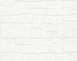 A.S. Création вспененный винил «Под камень, Деревенский стиль, Белые» 204042