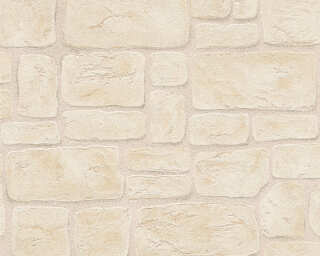 A.S. Création Wallpaper «Cottage, Beige, Brown, White» 204059