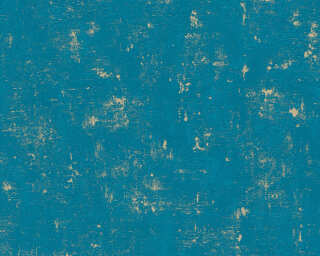 A.S. Création Wallpaper «Uni, Blue, Gold, Green, Metallic» 230768