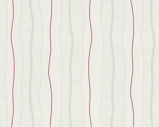 Livingwalls Wallpaper «Stripes, Cream, Red» 249531