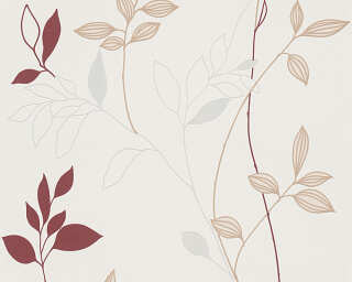 Livingwalls Wallpaper «Floral, Cream, Red» 249739