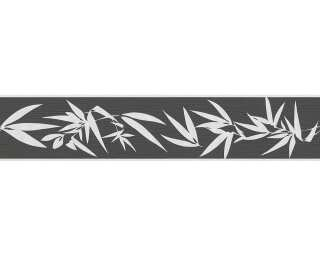 A.S. Création Border «Floral, Black, Cream, Metallic» 294142