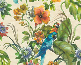 A.S. Création Wallpaper «Jungle, Beige, Coloured» 300151