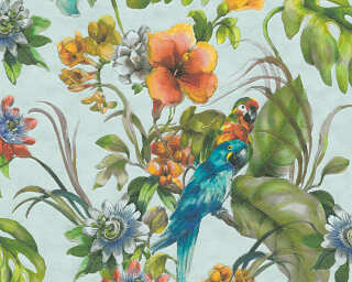A.S. Création Wallpaper «Jungle, Blue, Coloured, Turquoise» 300152