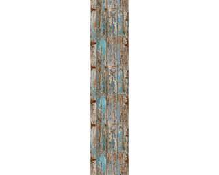 Livingwalls Designpanel «Holz, Beige, Blau, Grau» 300771