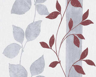 Livingwalls Wallpaper «Floral, Grey, Red» 300925