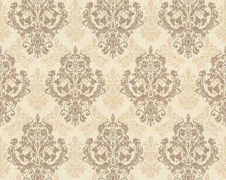 ORIGINALS papier peint «Baroque, crème, marron, métallique» 301883