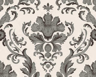 A.S. Création Wallpaper «Baroque, Black, White» 301901