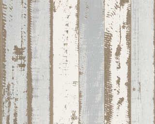 Lutèce papier peint «Bois, beige, gris, marron» 302581