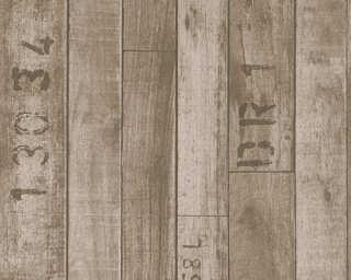 Lutèce papier peint «Bois, marron» 302591