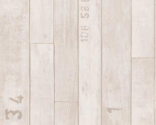 Lutèce papier peint «Bois, beige, crème» 302592