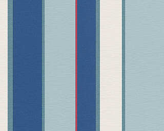 Oilily Wallpaper «Stripes, Blue, Red, White» 302601
