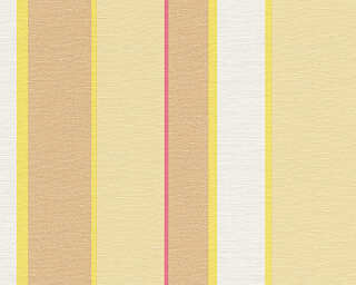 Oilily Wallpaper «Stripes, Beige, Red, Yellow» 302603