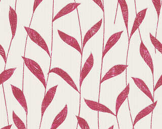 Esprit Home Wallpaper «Floral, Red, White» 302792