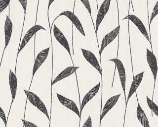 Esprit Home Wallpaper «Floral, Black, White» 302793