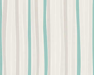 Esprit Home Wallpaper «Stripes, Cream, Green, Grey» 302812