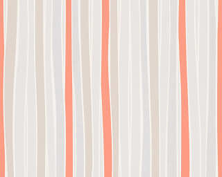 Esprit Home Wallpaper «Stripes, Beige, Cream, Orange» 302813