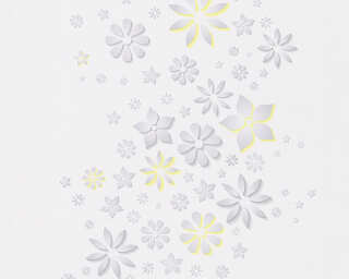 Esprit Home Wallpaper «Floral, Grey, White, Yellow» 303071