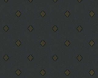 A.S. Création Wallpaper «Uni, Black, Gold, Metallic» 303192