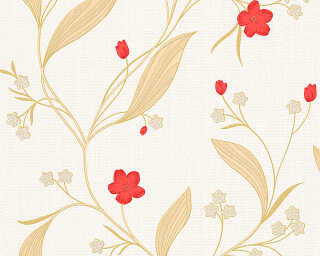 A.S. Création Tapete «Floral, Beige, Gold, Metallics, Rot» 303931