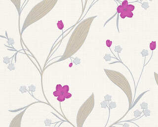 A.S. Création Tapete «Floral, Beige, Metallics, Silber, Violett» 303934