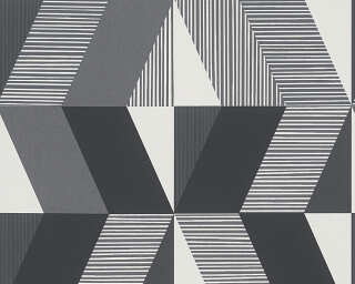 MICHALSKY LIVING Wallpaper «Graphics, Black, Grey, White» 303952