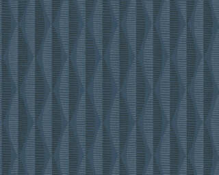 A.S. Création Wallpaper «Graphics, Blue, Grey» 304174